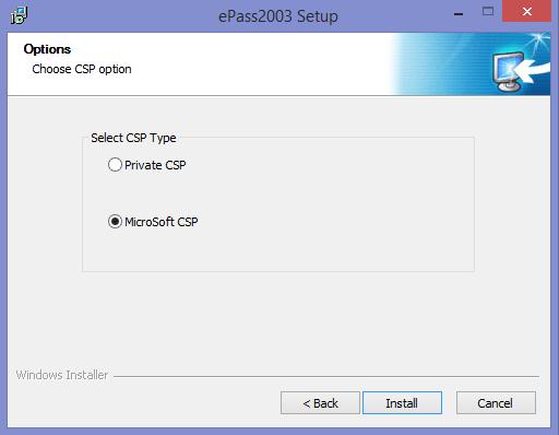 ePass 2003 e-Token Driver
